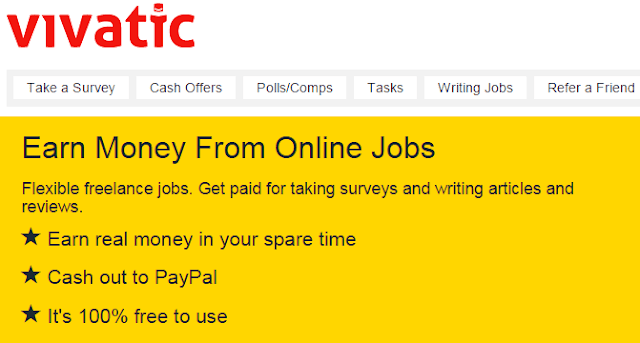 VIVATIC | EARN MONEY FROM DATA ENTRY, SURVEYS, ARTICLE WRITING, POLLS