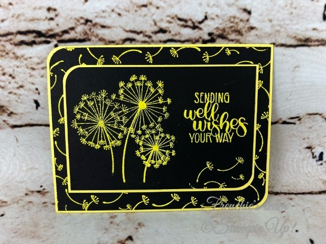 Card, Dandelion Delight, Pineapple Punch Embossing Powder, Detailed Trio Punch