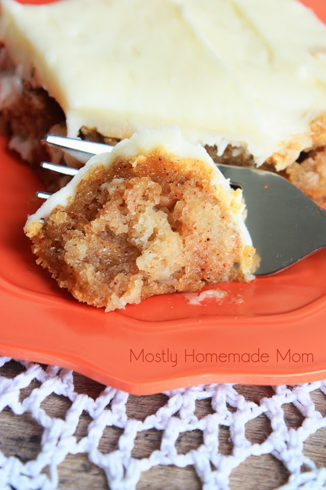 Apple Cake With Cream Cheese In Batter