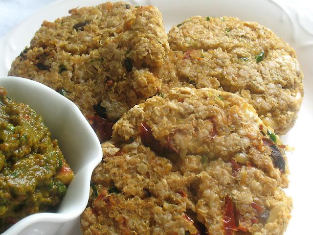 quinoa brie cakes