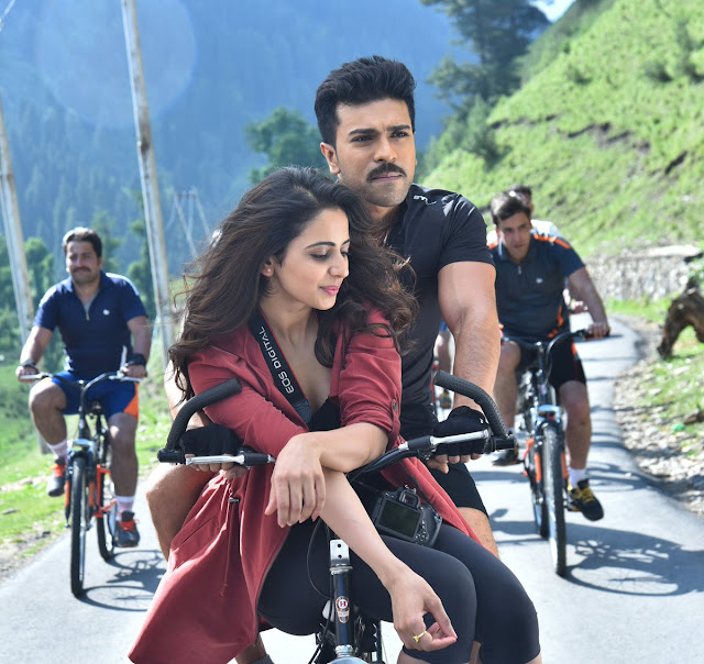 rakul preet, ram charan latest stills from dhruva