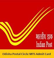 Odisha Postal Circle MTS Admit Card