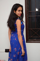 Pallavi Dora Actress in Sleeveless Blue Short dress at Prema Entha Madhuram Priyuraalu Antha Katinam teaser launch 060.jpg