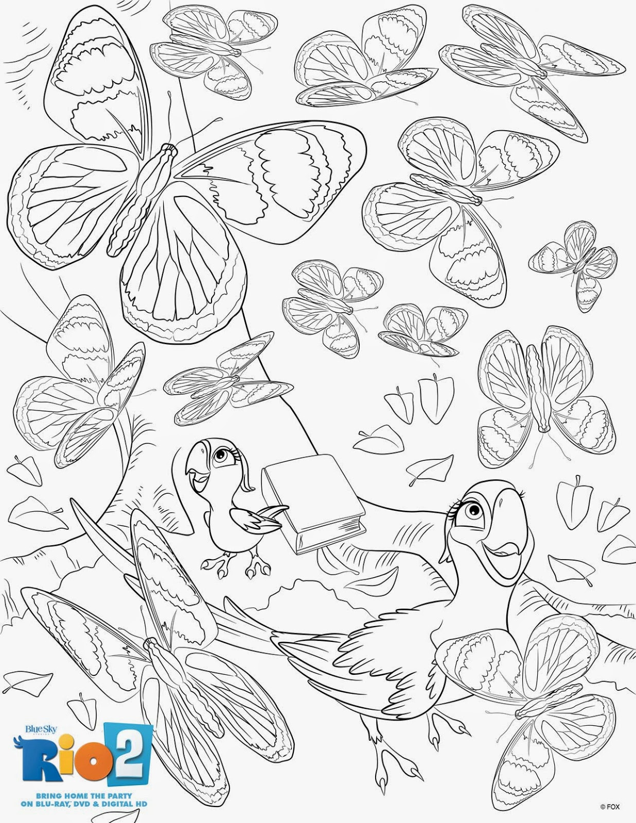 A Geek Daddy Free Rio 2 Coloring Pages Amp Bluray Dvd