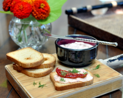 Roasted Roma Tomato Dip ♥ KitchenParade.com
