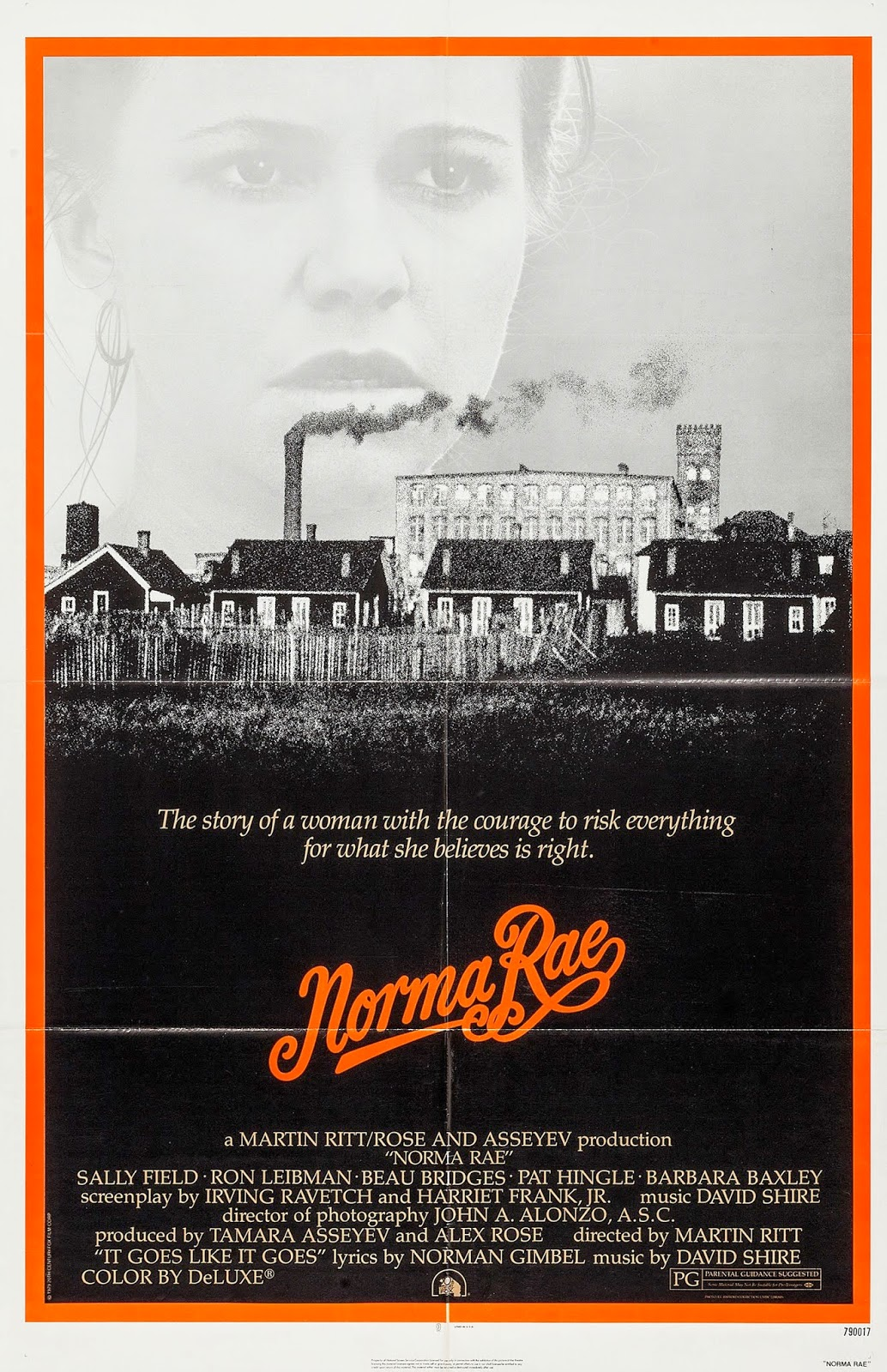 martin ritts norma rae essay Norma rae, stars sally field, beau bridges and ron liebman it was directed by martin ritt who was known for making socially conscious films about working class struggles and labor unions it was filmed in 1979, when many american jobs were being sent overseas and americans were facing economic.