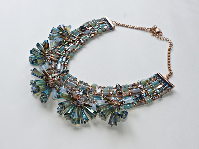 Unusual design glass necklace from Monsoon