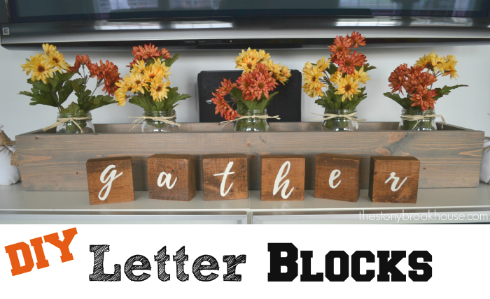 diy gather letter blocks the stonybrook house