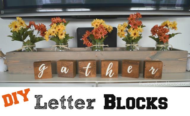 DIY 'gather' letter blocks