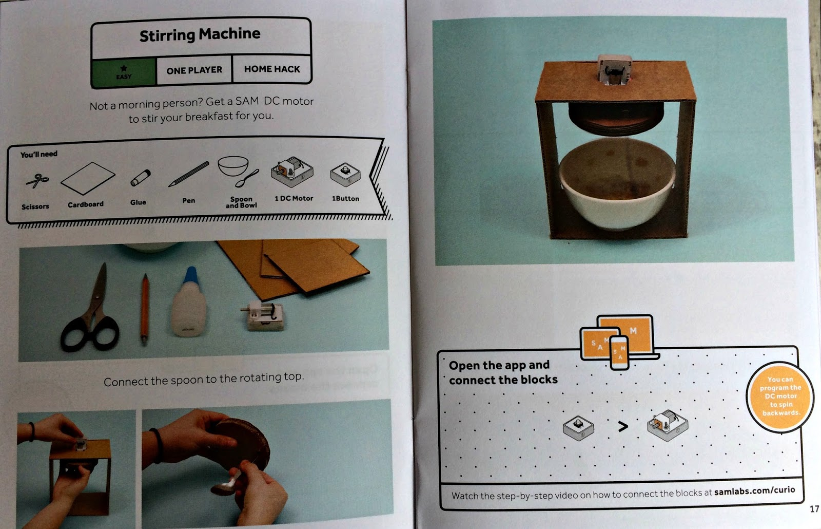 Instructions on how to make a stirring machine