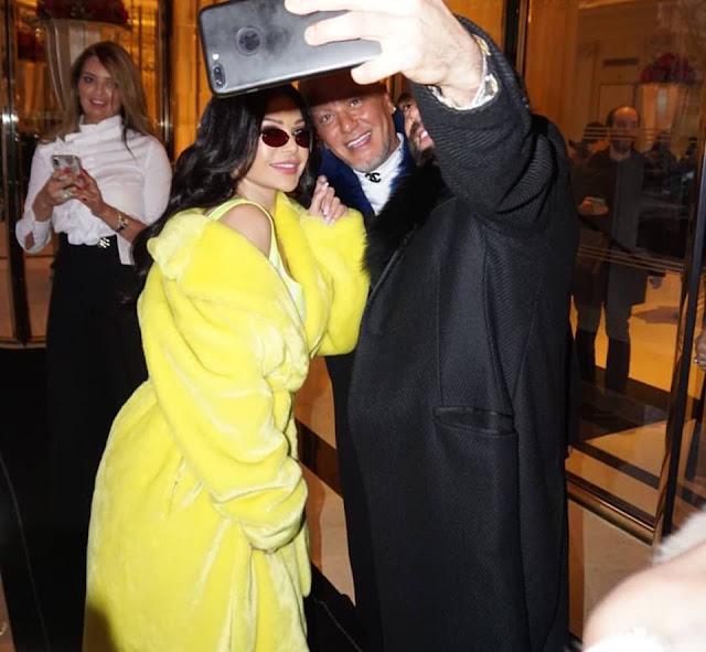 هيفاء وهبي بإطلالة متميزة في فعاليات  أسبوع الموضة في  باريس بإطلالة متميزة