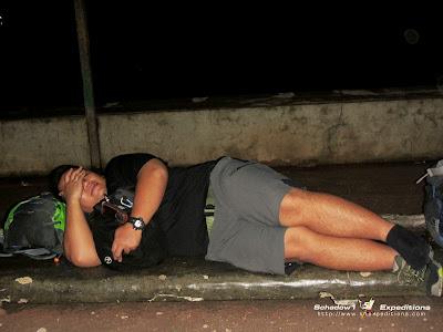 Sleeping at Hinatuan Bus Terminal - Schadow1 Expeditions