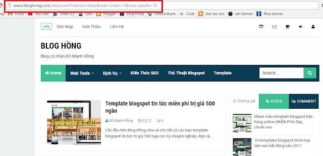 Cách lấy data blog người khác đơn giản