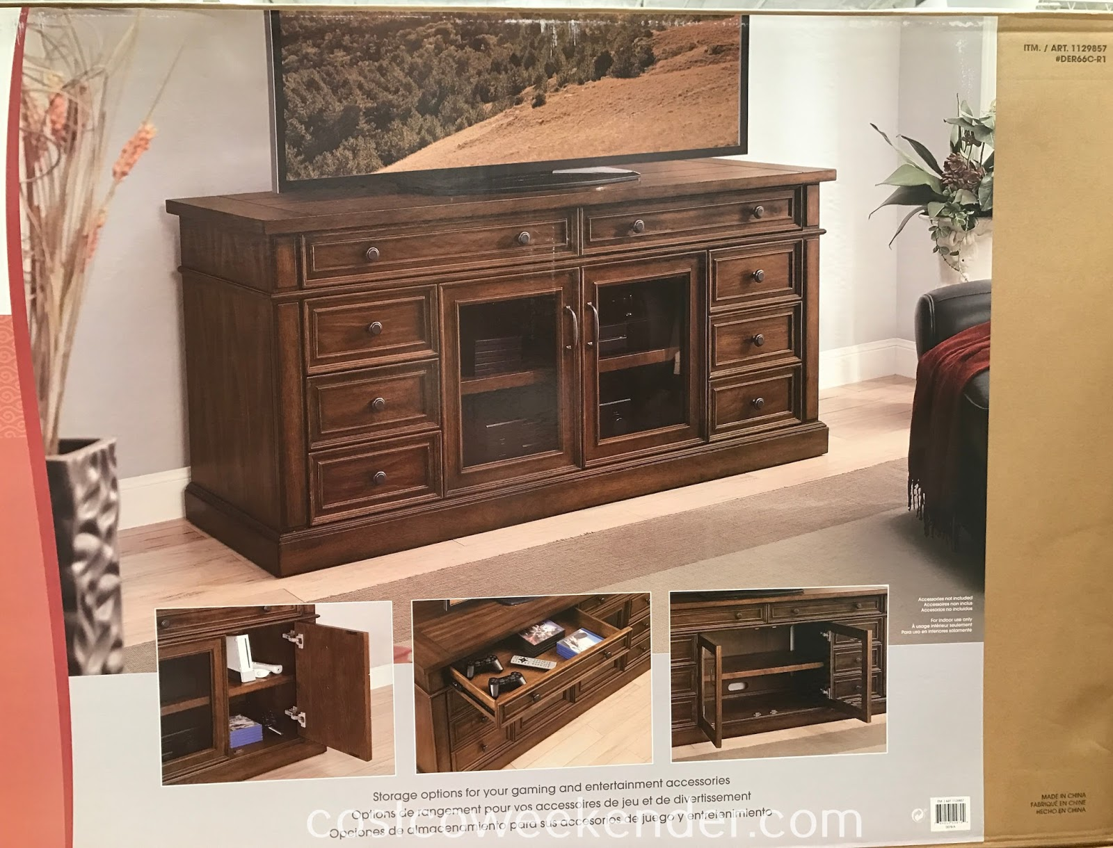 Costco 1129857 - Make the Bayside Furnishings TV Console part of your entertainment system