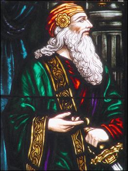 Polonius stained glass image from Wikipedia
