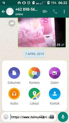 Cara mengirim nomor kontak melalui whatsapp