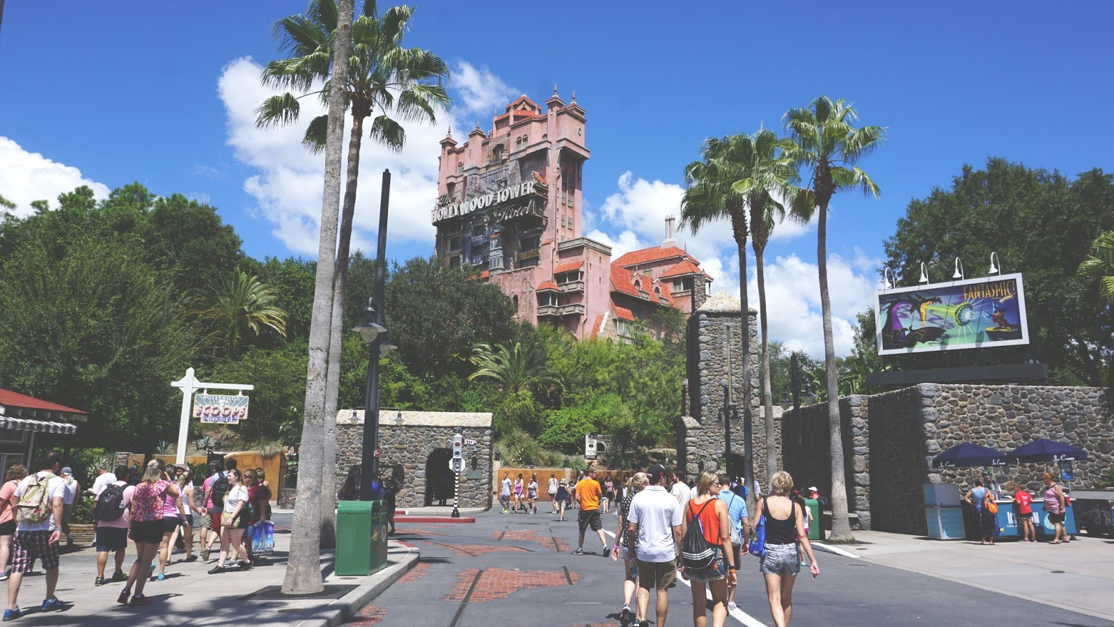 The Tower of Terror at Hollywood Studios in Disney World, Florida