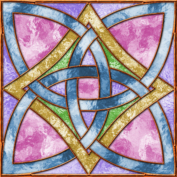 Stained glass knot