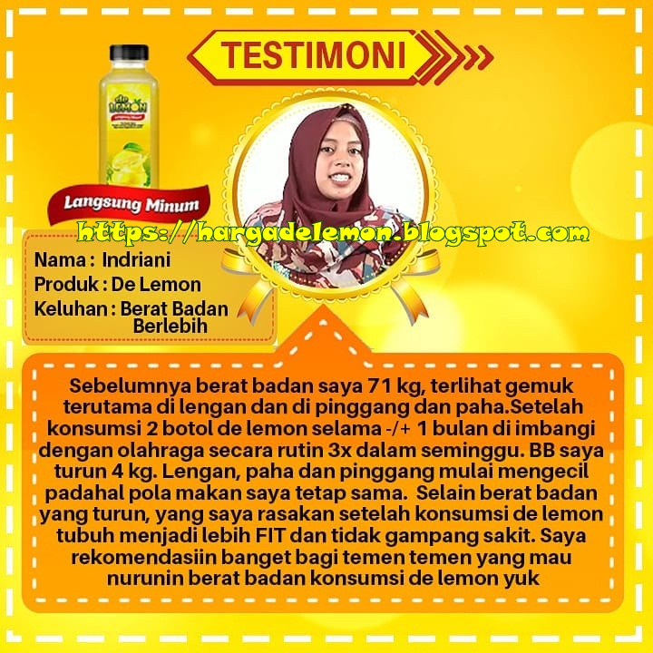 Testimoni De Lemon Untuk Menurunkan Berat Badan