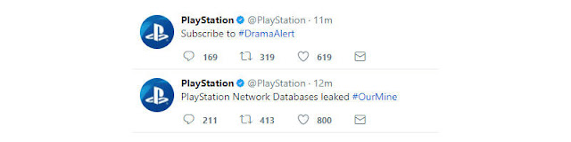 PlayStation tem suas redes sociais hackeadas.