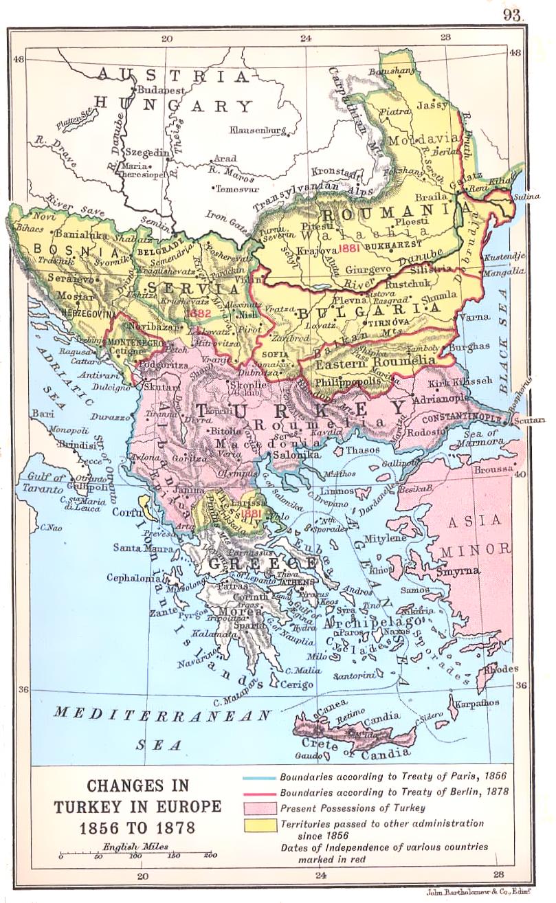 Karta Balkana 1878.Belezhnica Karte Koјe Prikazuјu Balkan U 19 Veku