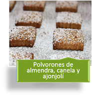 POLVORONES DE ALMENDRA, CANELA Y AJONJOLÍ