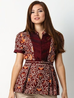 model baju batik 2018 wanita modern dress blus