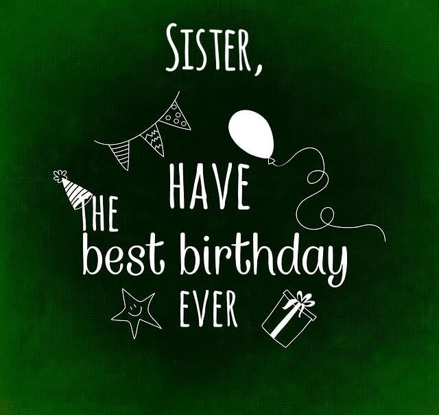 Happy Birthday wishes for Sister celebration image