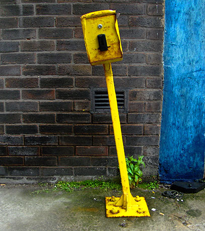 urban photography, street furniture, urban art, urban photo, yellow, blue, urban decay, Sam Freek,