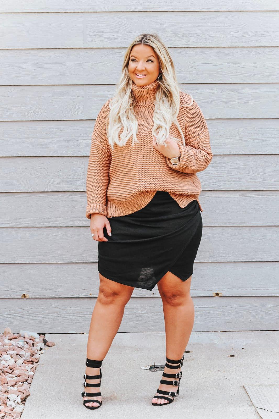 Asymmetrical Skirt styled by popular Denver fashion blogger, Delayna Denaye