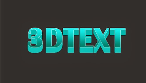 Simple 3D Text Effect