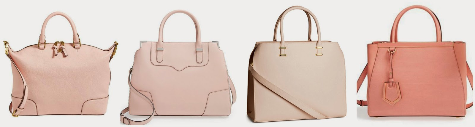 These Are Some Of My Favorite Blush And Light Pink Handbags From H M 40 Rebecca Minkoff 325 Tory Burch 495 Fendi 1 900