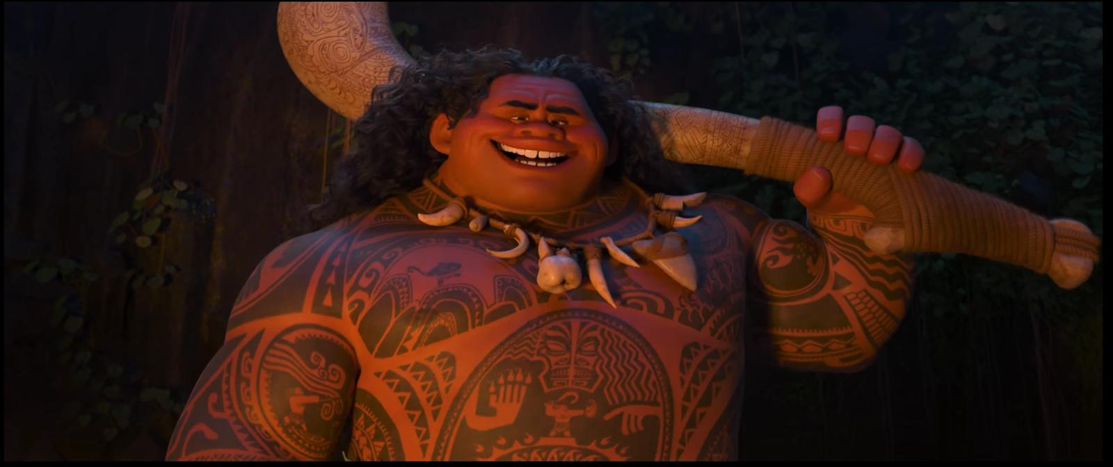 Thatgeekdad disney releases teaser trailer for 39 moana for Disney s moana maui s magical fish hook