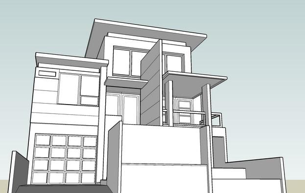 Contoh Desain Rumah Hitam Putih Berpenghuni