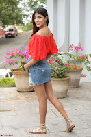 Rhea Chakraborty in Red Crop Top and Denim Shorts Spicy Pics ~  Exclusive 174.JPG