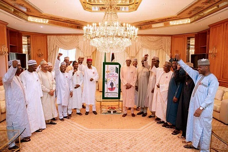 Buhari @ 75th Gets Birthday Gift From Grandchild, Others