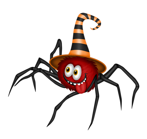 tubes de arañas halloween