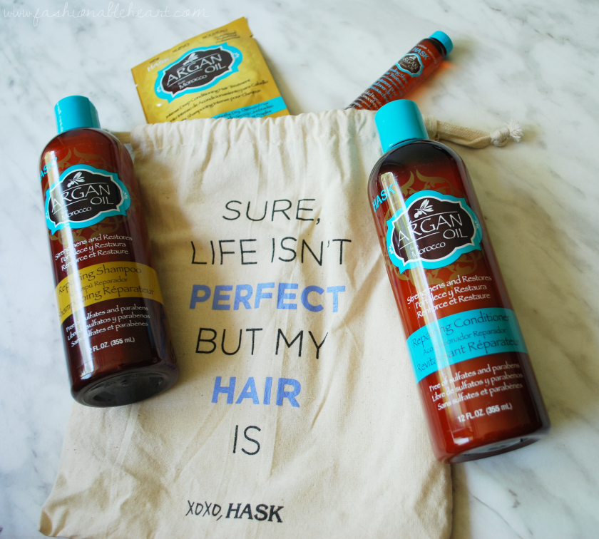 bbloggers, bbloggersca, canadian beauty bloggers, hask, shampoo, conditioner, oil, argan, oranges, product review, haircare