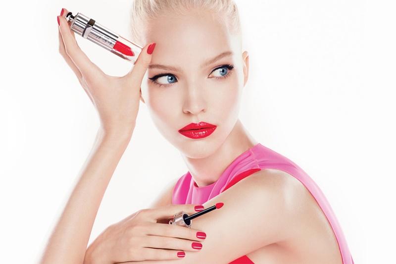 Le modelle della pubblicit Sasha Luss per Dior Addict
