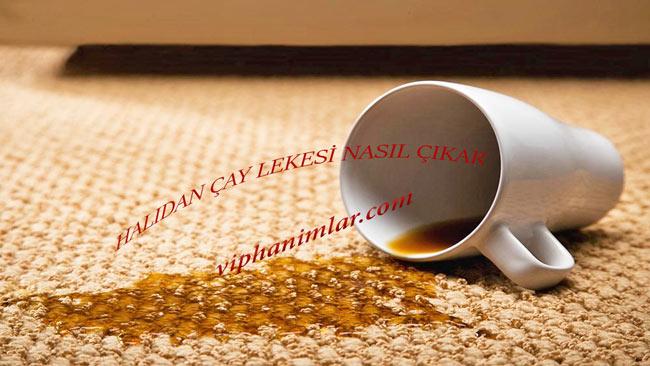 Halıdan Çay Lekesi Nasıl Çıkar