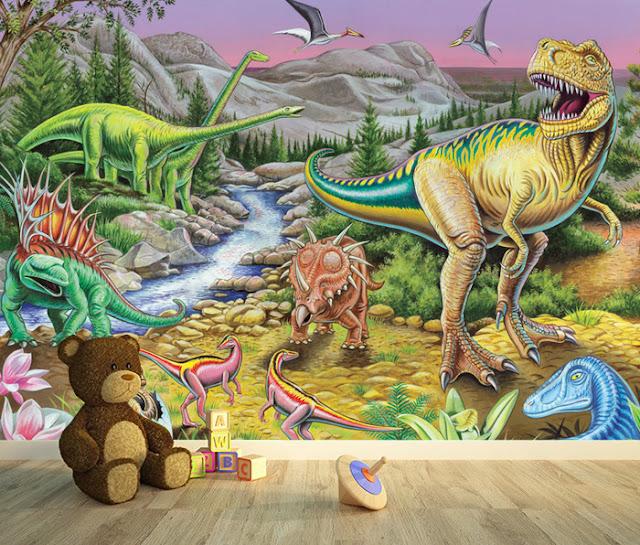Lasten Tapetti Dinosaurukset