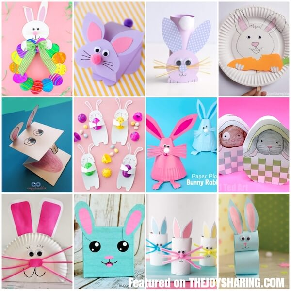 24 Cute Easter Bunny Crafts For Kids The Joy Of Sharing