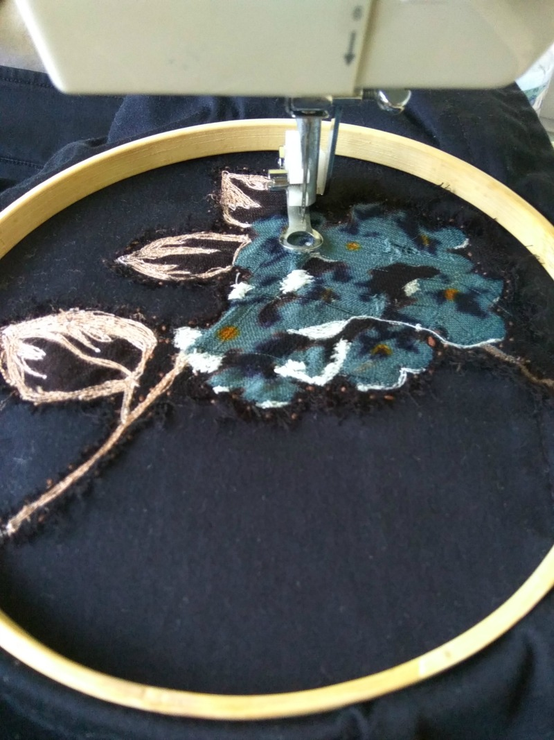 Repair Using Free Motion Embroidery