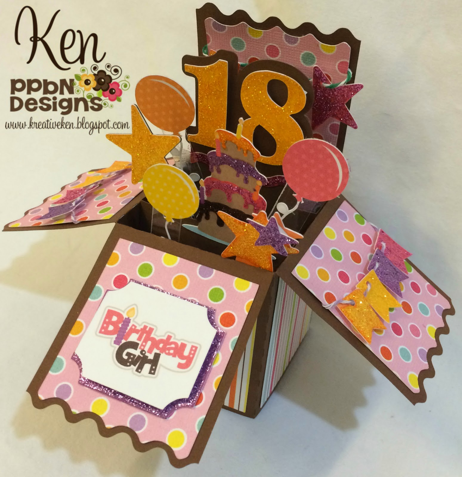 Card In A Box This Was Very Popular Post And File Download So I Wanted To Use Again Make 18 Year Old Birthday Using PPBN Files