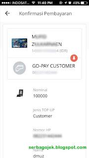 cara mengisi go pay