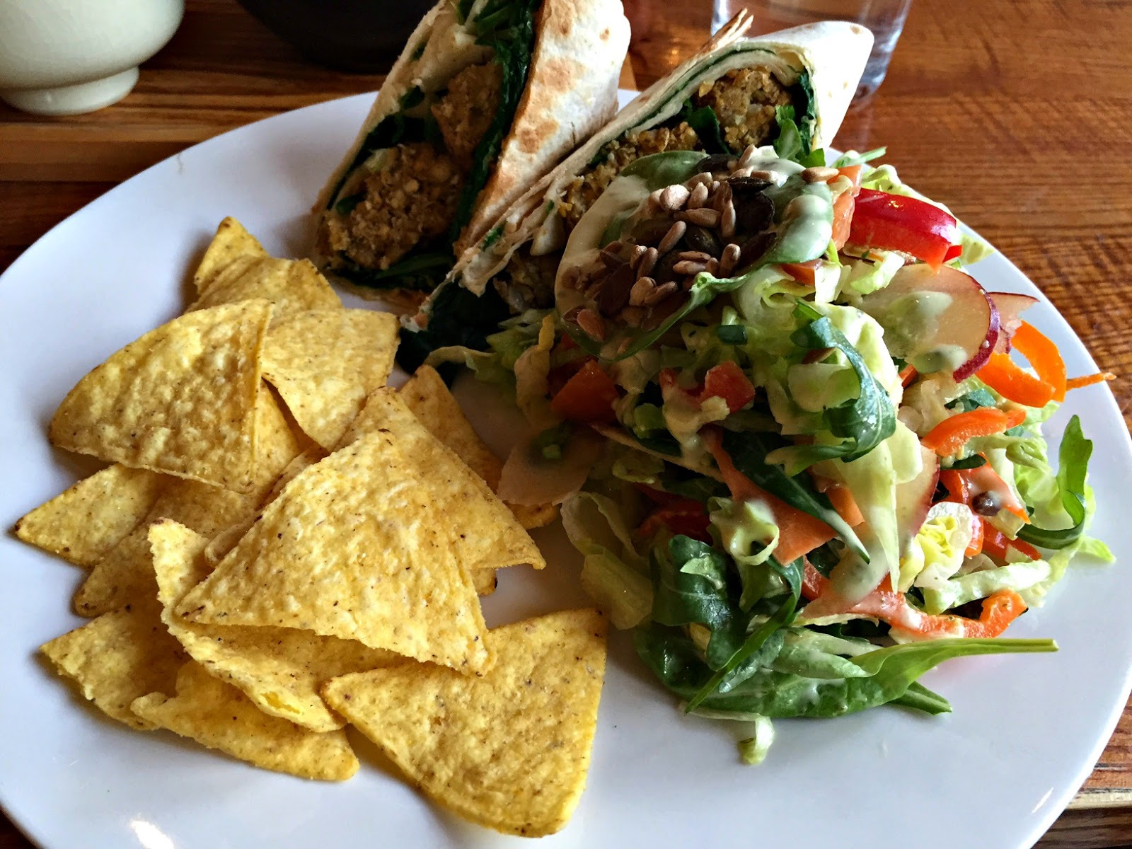 Falafel wrap at Tea Sutra