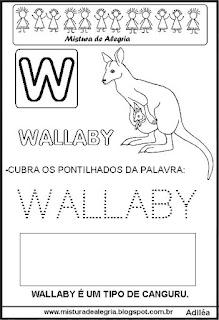 Bichonário desenho de wallaby