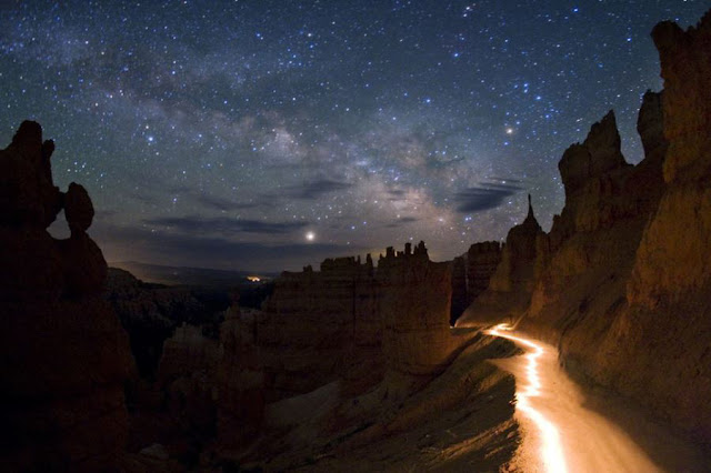 The Stars Valley of Qeshm in the night.