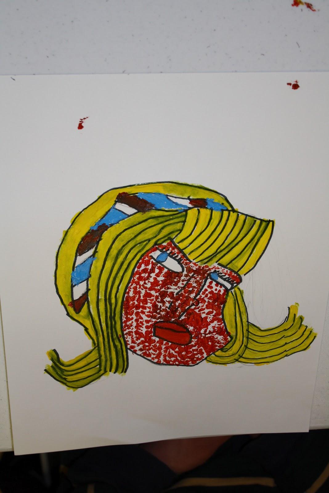 Freshly Completed Roy Lichtenstein