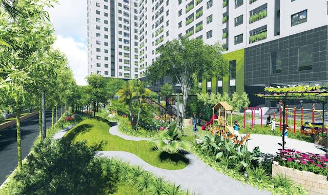 Khuôn viên xanh tại Golden Palm